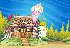 Fantasy Marzipan Sweets House Background Royalty Free Stock Image