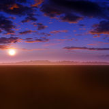 Fantasy Meadow Sunset Stock Photography