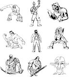 Fantasy men and warriors Royalty Free Stock Image