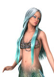 Fantasy Mermaid on White Stock Images