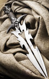 Fantasy metal dagger stock images