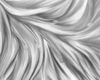 Fantasy monochrome flower closeup. Black and white blooming illustration, styled macro flower Stock Photo