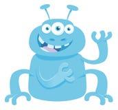Fantasy monster creature cartoon illustration Stock Image