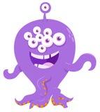 Fantasy monster creature cartoon illustration Stock Images