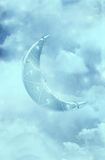 Fantasy Moon. Fantasy background for your creations royalty free illustration