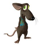 Fantasy mouse 1. 3D render of a cute toon mouse Stock Images