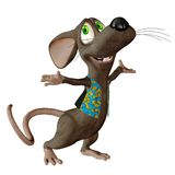 Fantasy mouse 2. 3D render of a cute toon mouse Royalty Free Stock Image
