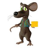 Fantasy mouse 3. 3D render of a cute toon mouse Royalty Free Stock Photography