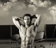 Fantasy muscle man Royalty Free Stock Photo