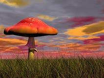 Fantasy mushroom - 3D render Royalty Free Stock Images