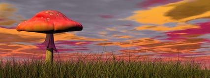 Fantasy mushroom - 3D render Stock Photo