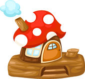 Fantasy Mushroom house. Isolated on white background vector vector illustration