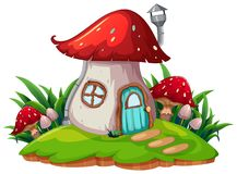 A fantasy mushroom house. Illustration stock illustration