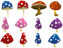 Fantasy mushrooms Stock Image