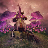 Fantasy mushrooms on a hill Royalty Free Stock Image