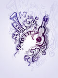 Fantasy musical illustration. Stock Photo