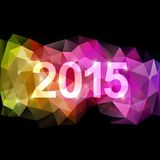 Fantasy 2015 new year background. Abstract fantasy christmas 2015 new year background, soft triangles Stock Images