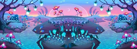Fantasy nocturnal landscape Stock Image