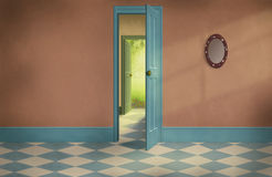 Fantasy old house with empty rooms Stock Image