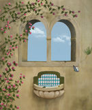 Fantasy old windows Royalty Free Stock Image