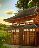 Fantasy oriental building Royalty Free Stock Photography