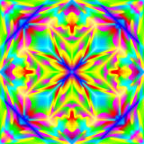 Fantasy ornament for colorful background done in kaleidoscopic style with seamless pattern. Royalty Free Stock Photo