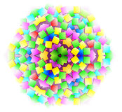 Fantasy ornament done in kaleidoscopic style. Stock Photo