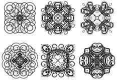 Fantasy ornaments 2. Set of fantasy style design elements Royalty Free Stock Photos