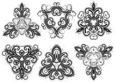 Fantasy ornaments 4. Set of fantasy style design elements Stock Image