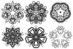 Fantasy ornaments 6. Set of fantasy style design elements Royalty Free Stock Photos