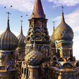 Fantasy Palace at sunset Royalty Free Stock Image