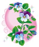 Fantasy_pansy_flowers_blue Royalty Free Stock Photo