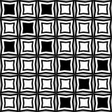 Fantasy pattern with black and white irregular geometric shapes Stock Images