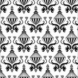 Fantasy patterned black and white Royalty Free Stock Image