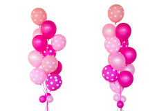 Fantasy pink balloons. Fantasy pink balloons for surprise propose marry, on white background royalty free stock photo