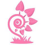 Fantasy pink plant Royalty Free Stock Images