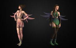 Fantasy pixie bundle Royalty Free Stock Image