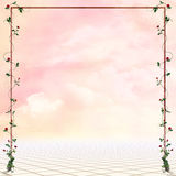 Fantasy place. Beatiful fantasy place with rose�s frame for your work Stock Images