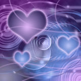 Fantasy Planet of Love. Abstract planet from curves, hearts, circles Royalty Free Stock Images