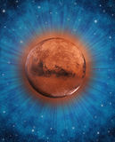 Fantasy Mars planet in space stock images