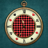 Fantasy  Pocket Watch. Fantasy illustration with a pocket watch Wonderland  Computer graphics Stock Photo