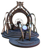 Fantasy portal. 3D render of a fantasy ornamented portal vector illustration