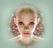 Fantasy Portrait 3d CG Royalty Free Stock Photography