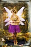 Fantasy portrait with wings Stock Photography
