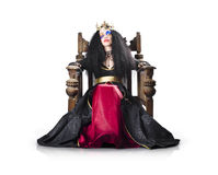 Fantasy queen on throne Stock Images