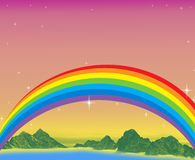 Fantasy Rainbow day Stock Image