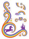 Fantasy Rainbow Design Stock Photos
