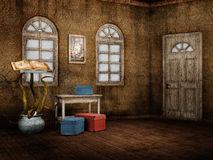 Fantasy retro room Royalty Free Stock Photography