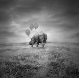 Fantasy rhino Stock Images