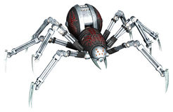 Fantasy Robot Spider Royalty Free Stock Images